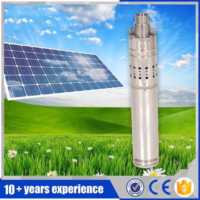 Нержавеющая сталь Погружной Солнечный насос для скважин 12 в солнечный насос dc глубокий хорошо солнечный насос для дома мини 12 В dc солнечный