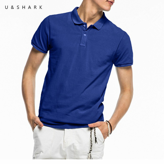d03279d162b U Shark Short Sleeve England Style Mens Blue Polo Homme High Quality Male  Casual Clothes 2016 Summer