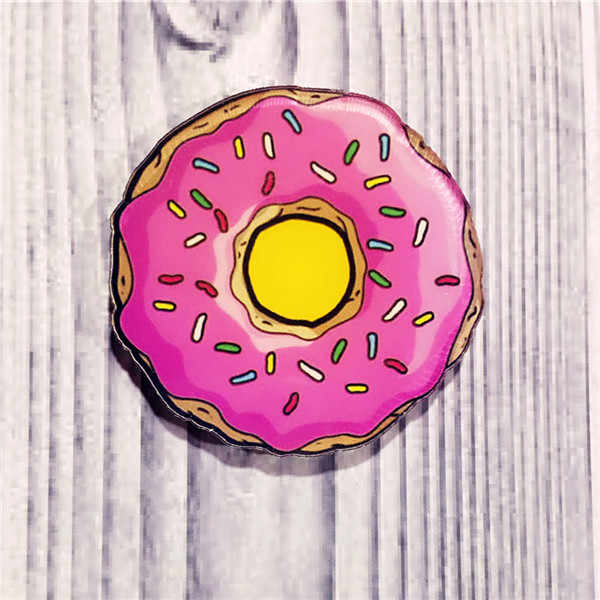 1PCS hot Kawaii Harajuku Doughnut Badge Acrylic Brooch For Clothes Decorative Rozet Collar Scarf Lapel Pin Broach Gift