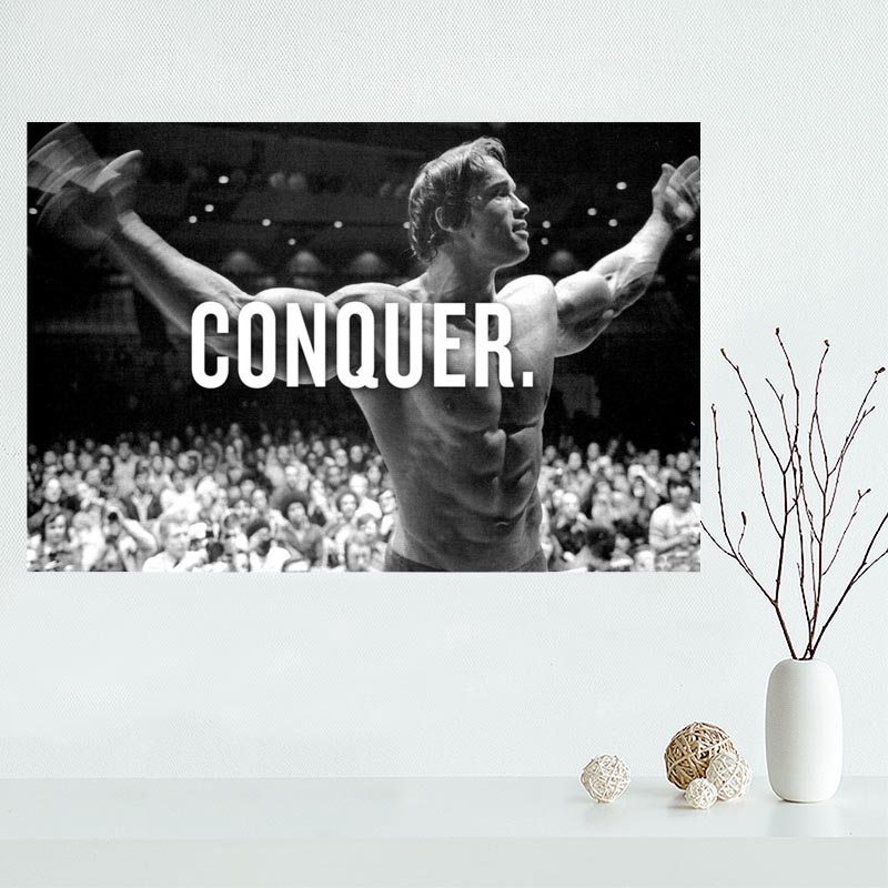 Nice Custom Arnold Schwarzenegger Canvas Poster Print painting Art Wall Silk Poster cloth print Fabric Poster poster