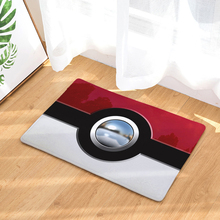 HomeMiYN Modern Bath Mat Digital Printing Footpad Pokemon Ball Flannel Bath Rug Anti Slip Bathroom Mats Home Decor Washable
