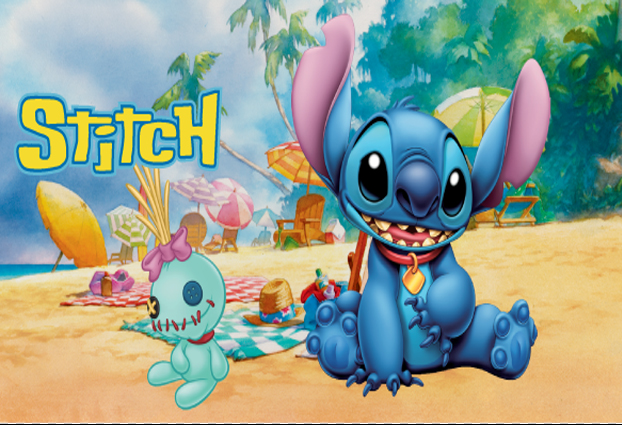 5x7FT Lilo Y Stitch Arena Playa De Picnic Custom Photo