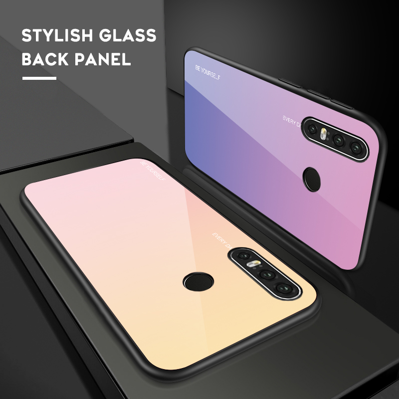 Gradient Tempered Glass Phone Case For Huawei Honor 8X P10 P10 Lite P20 Lite Pro P30 Lite Por Honor 9 Lite Cover Housing in Fitted Cases from Cellphones Telecommunications