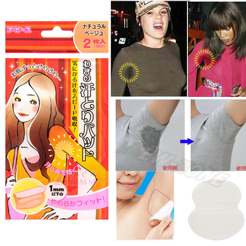 Original JAPAN Antiperspirant Underarm Dress Sticker Underarm Sweat Pads Deodorant Patch Men Women Tape Stickers 5bags=10pcs