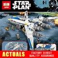 Nuevo 679 unids Lepin 05054 Serie Star Rebel U ala aviones de combate Modelo de Bloques de Construcción Ladrillos Niños Juguetes 75155 Niños regalos