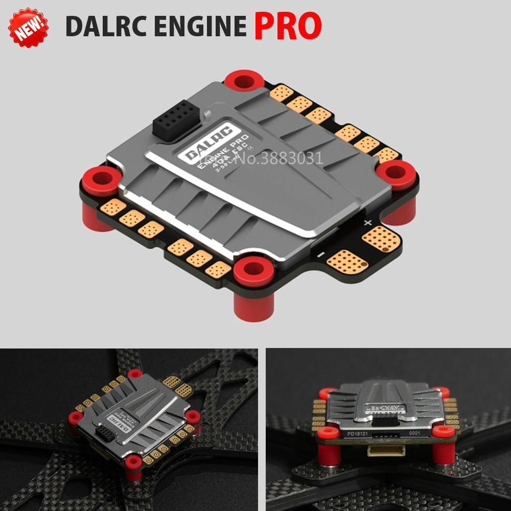 DALRC ENGINE PRO 40A ESC 4 in 1 3-5S Blheli_32 4in1 ESC Brushless DSHOT1200 Ready w/ 5V BEC Updated Version for Racing DroneDALRC ENGINE PRO 40A ESC 4 in 1 3-5S Blheli_32 4in1 ESC Brushless DSHOT1200 Ready w/ 5V BEC Updated Version for Racing Drone