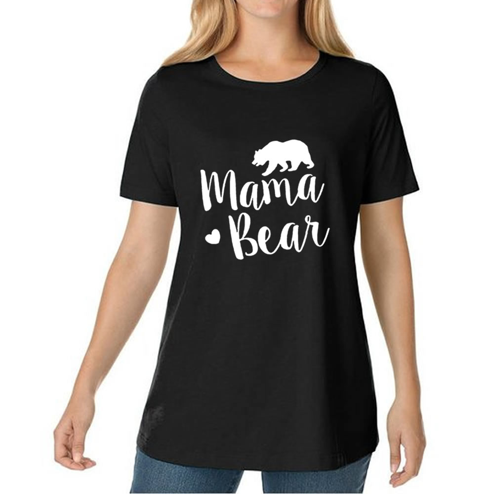 MAMA BEAR 2017 Summer font b Women s b font T Shirts Tumblr Funny Harajuku Punk