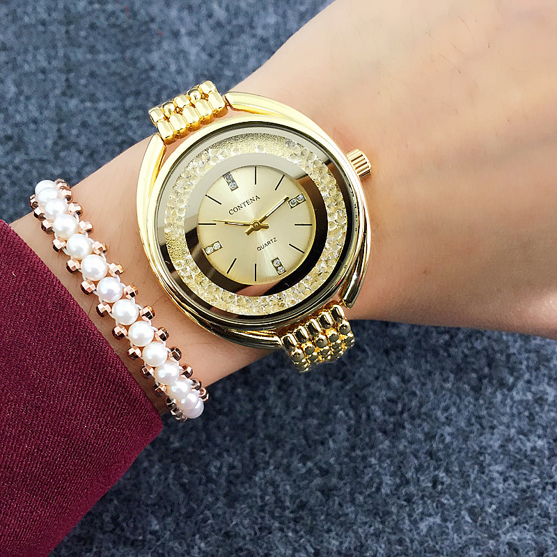 Hot 2018 fashion quartz watch women watches ladies girls famous brand wrist watch female clock for Celebrity watches female 2018