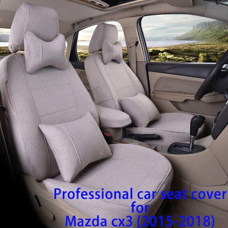 Legua Voiture Seat Cover Set pour Mazda cx3 (2015-2018) l'eau-preuve Protecteur De Siège De Voiture Accessoires Intérieurs Doux Tapis Couvre Siège De Voiture