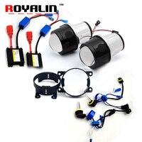ROYALIN Fog Light Lens H11 Xenon Kit For Ford 2 5 Metal Bi Xenon Projector Lens