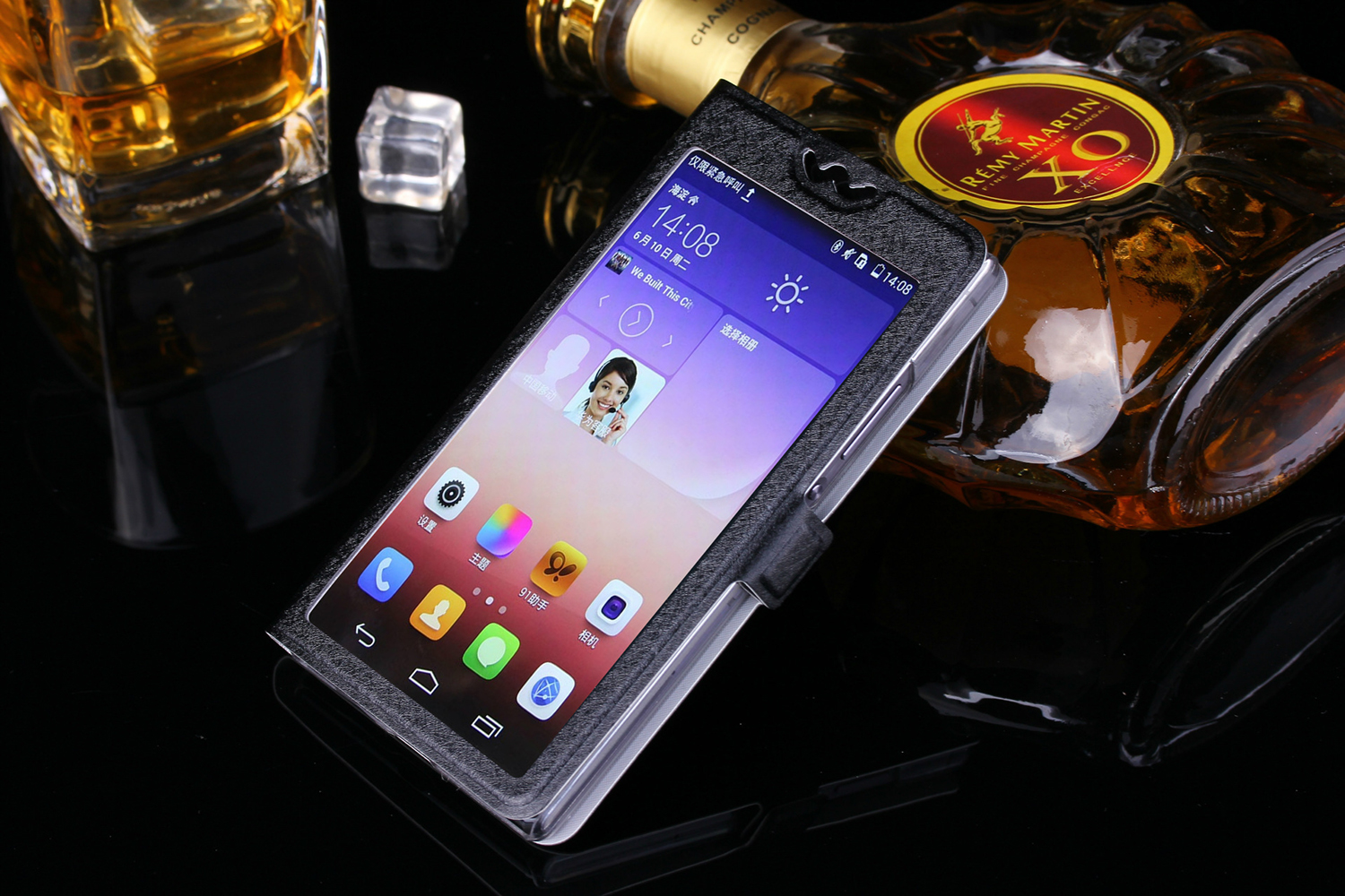 Hot sale! Vertex Impress Mars Case TOP Quality Cartoon phone bag flip Leather Cover with window FOR Vertex ImpressMars