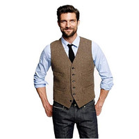 Male Fashion Suit Vest Men Formal Dress Vest Colete Masculino Herringbone Gilet Fitness Sleeveless Jacket Wedding Waistcoat