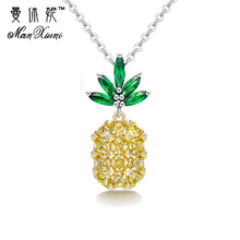 Manxiuni 2018 Silver Color Dubai Jewelry Decorations for Women Pineapple Jewelry Wedding Trinet and Necklaces Brinco