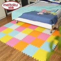 Meitoku Baby EVA Foam Play Puzzle Mat 9pcs Lot Interlocking Exercise Tiles Floor Mat For Kid