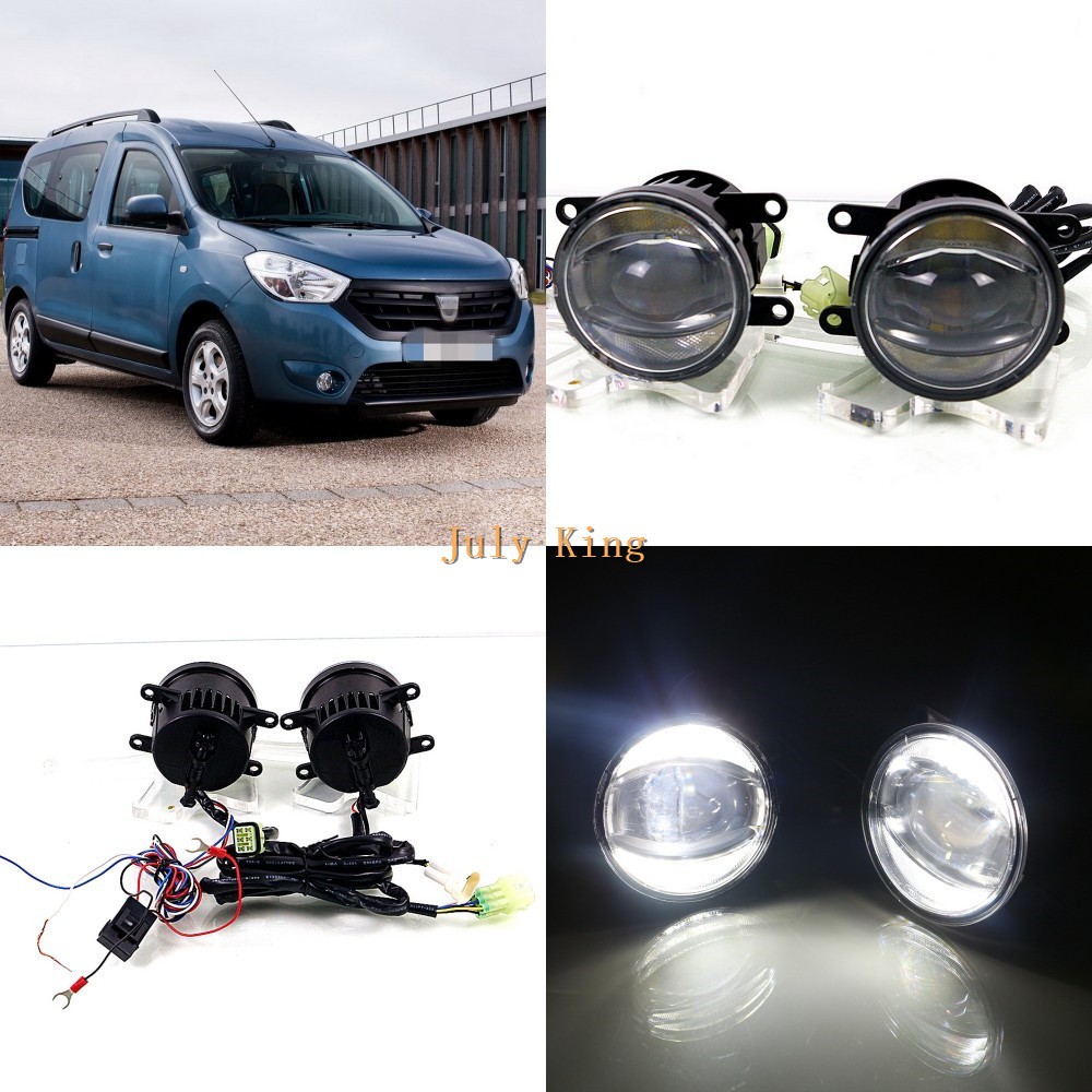 July King 1600LM 24W 6000K LED Light Guide Q5 Lens Fog Lamp +1000LM 14W Day Running Lights DRL Case for Dacia Dokker 2012 july king 1600lm 24w 6000k led light guide q5 lens fog lamp 1000lm 14w day running lights drl case for ford focus ii iii 06 14
