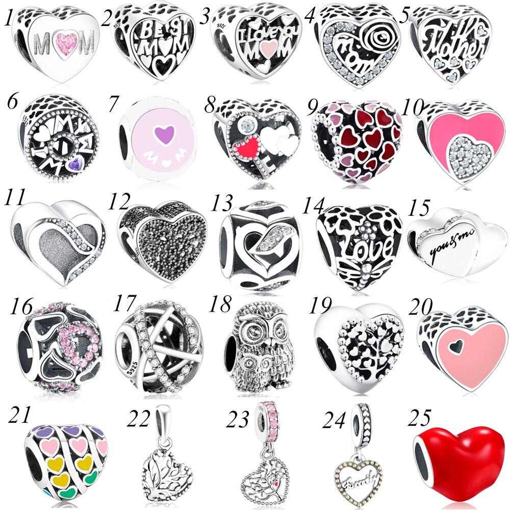 bc1a8c9192c1 Calado mejor mamá corazón encanto cuenta plata Europea 925 Ajuste Original  Pandora Charms pulsera Berloque regalo de la madre nuevo 2018