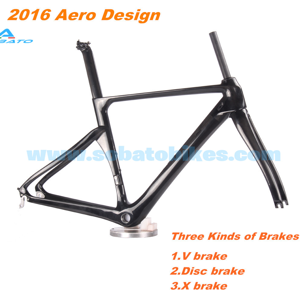 Carbon 700C Frame Road Bicycle Frameset Fork AERO Seatpost Bike BB86 SOBATO Cycling og evkin carbon road bike aero frame with integrated handlebar bicycle cycling sports parts bb86 di2 max 25mm tire glossy matt