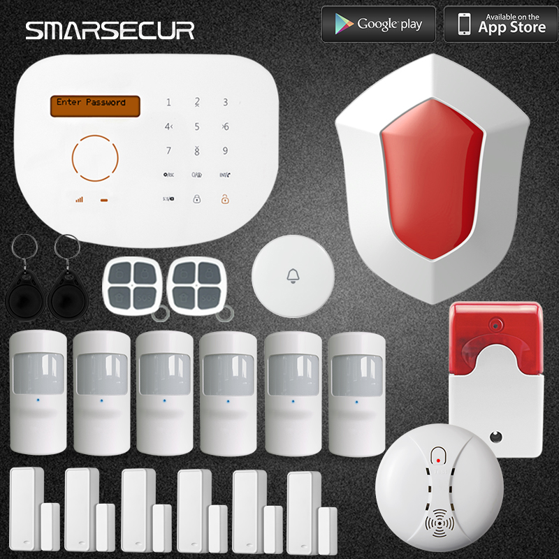 GSM Alarm Autodial Home Security and House Prorection Alarm System iOS Android App Sensor Built-in Speaker and Microphone