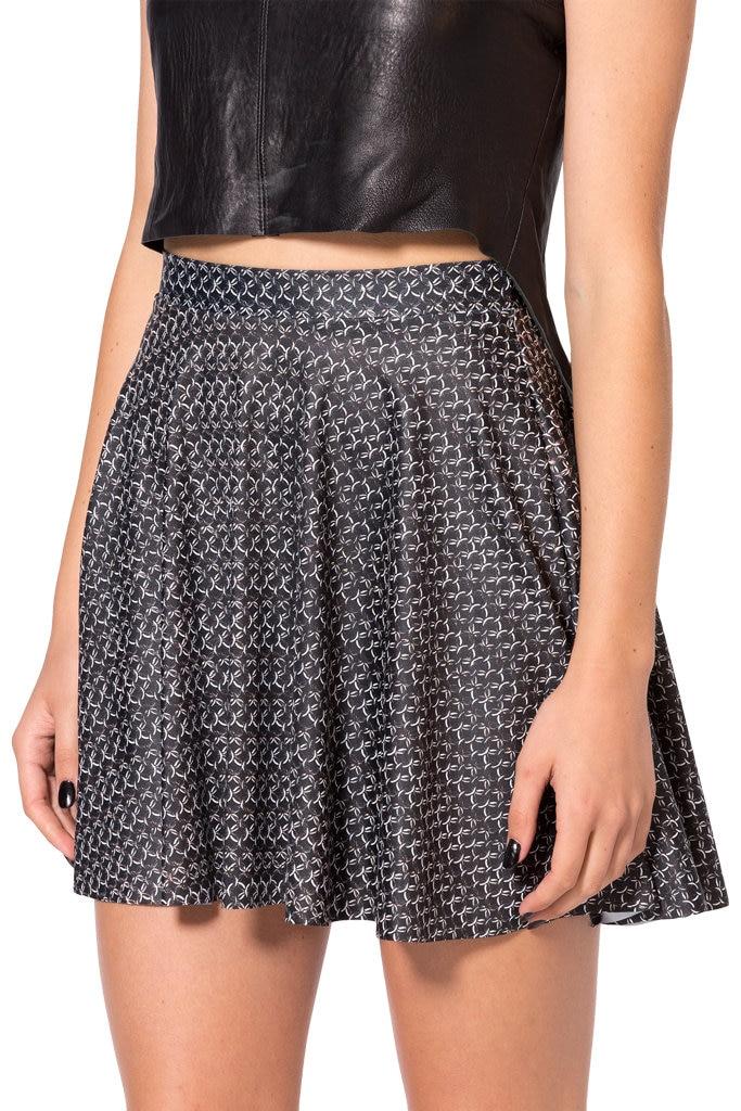 Drop Shipping New Fashion Saias Femininas Summer Women SKIRTS Chainmail Pinafore Skater SKIRTS Digital Print Saia S M L