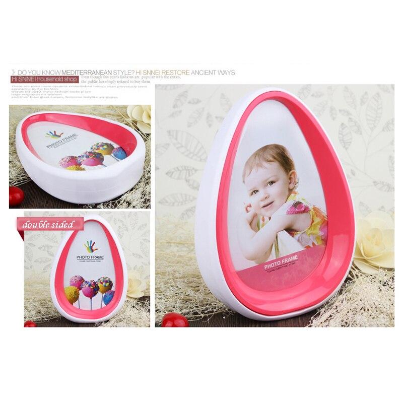 Einfache Doppelseitige 7 Zoll Oval Fotorahmen Baby Bilderrahmen kidz ...