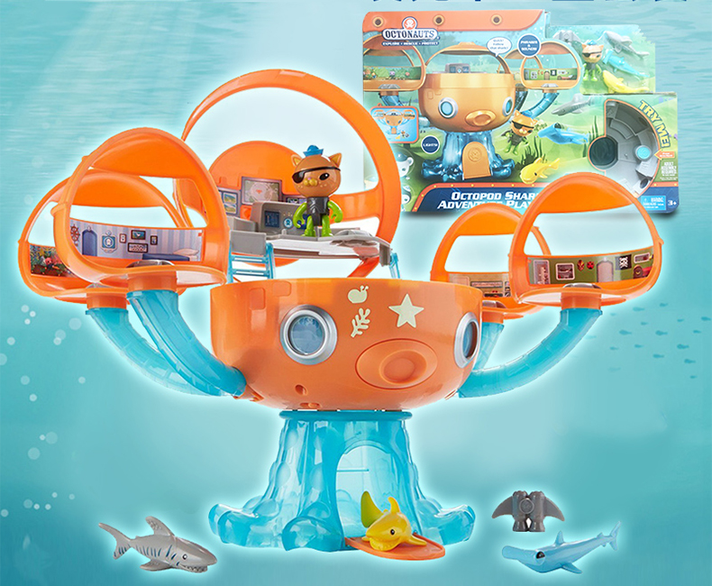 Free shipping by trackable shipping NEW!!!! new style of 1 set original Octonauts Oktopod Play set figure toy child Toys original octonauts octonauts marine animals creatures figures toy sea turtle urchin white tip shark child toys minifigures