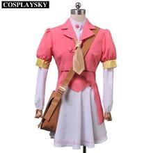 AKB0048 Cosplay Postgraduate Yuka Ichijo Costume Pink Outfit