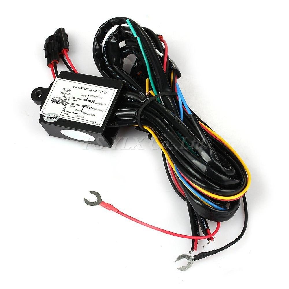 Дневной ходовой свет автоматическое включение / выключение контроллера модуль коробка реле жгут проводов с контроллером дневной ходовой с...