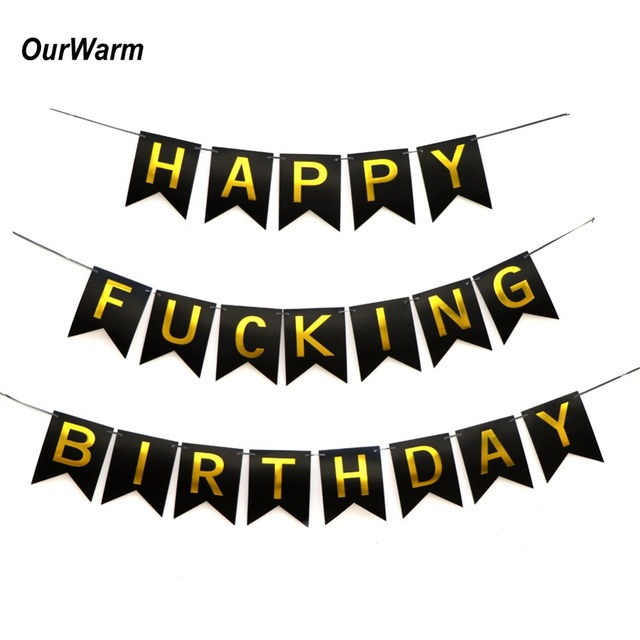 OurWarm 30th Birthday Banner Milestones 40th 50th Decorations Party Adult Happy Wishes