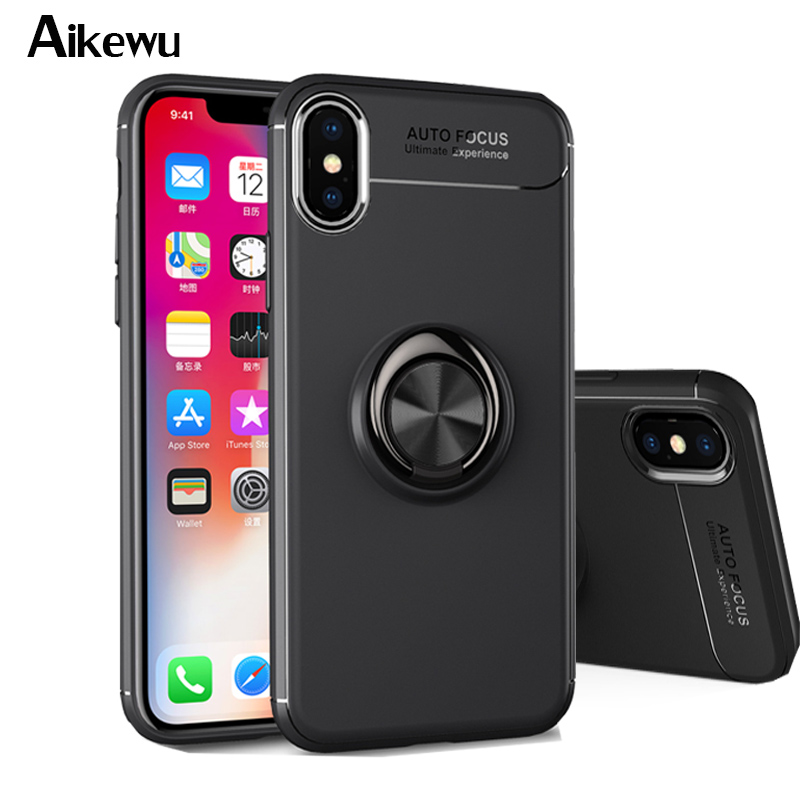 Aikewu Case for iPhone X XR XS Max Car Holder Stand Finger ...