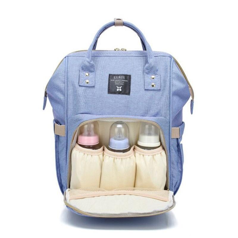 Momia maternidad bolsa de gran capacidad bebé mochila de viaje botellas de almacenamiento de pezón de bolsas para el cuidado del bebé T0567