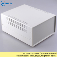 Iron junction control box diy iron enclosure for electronic project industry project instrument box outlet case 275*220*120mm