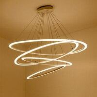Современная столовая светодио дный светодиодная круглая подвесная светодио дный лампа Светодиодная овальная Подвесная лампа Роскошная ак