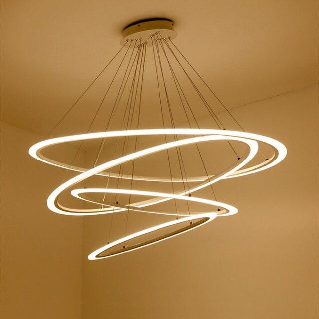 Modern Dinning Room Led Round Pendant Lighting Led Oval Hanging Lamp