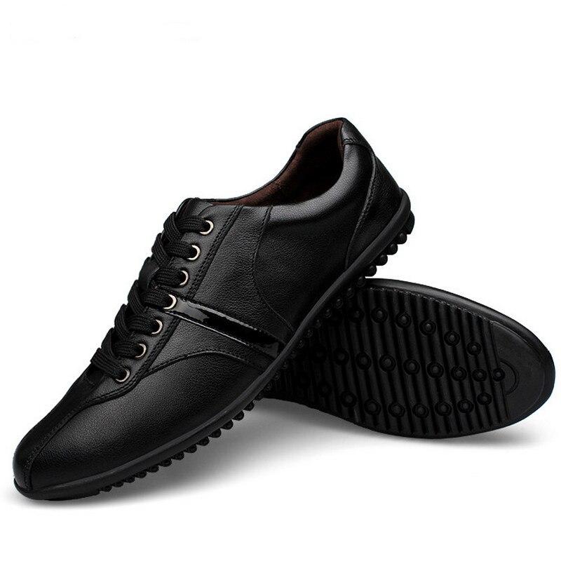 Haute 65 Taille Qualité 28 Hommes De Chaussures Véritable La En Cuir Doux Casual Black Plus ULpqSMzGV