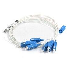 1x8 PLC SC/UPC Splitter ,SC UPC 1X8 Single Mode Fiber Optic Coupler 0.9mm Steel Tube 1:8 for FTTH FTTB FTTX Network