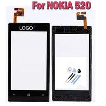 Pc una pantalla táctil original para nokia lumia 520 pantalla lcd digitalizador de pantalla táctil con piezas de repuesto marco + herramientas freeship