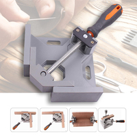 EASY Aluminum Single Handle 90 Degree Right Angle Clamp Angle Clamp Woodworking Frame Clip Right Angle Folder Tool|Clamps| |  -