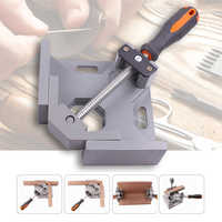 EASY-Aluminum Single Handle 90 Degree Right Angle Clamp Angle Clamp Woodworking Frame Clip Right Angle Folder Tool