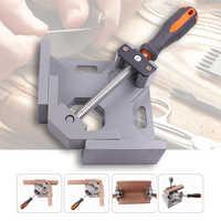 Fácil-alumínio único punho 90 graus ângulo direito braçadeira de ângulo braçadeira carpintaria quadro clipe de ângulo direito ferramenta pasta