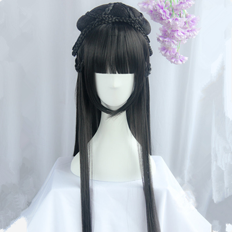 80cm chinese ancient dynasty princess cosplay hair long vintage hair beautiful princess hair carnival cosplay