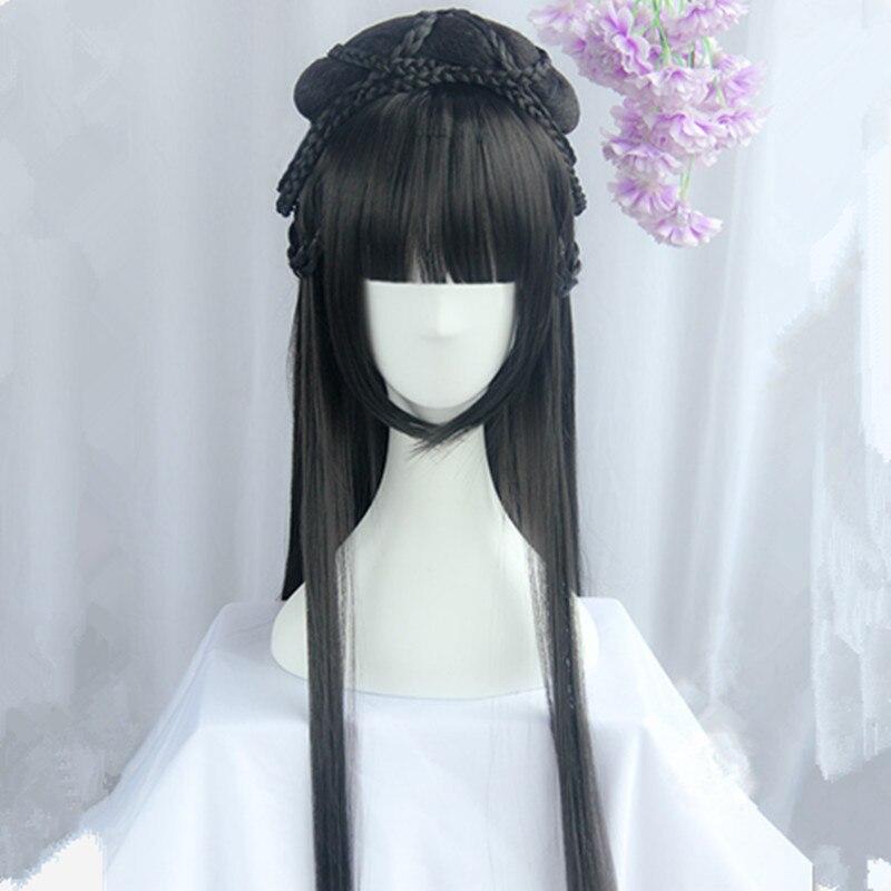 80cm chinese ancient dynasty princess cosplay hair long vintage hair beautiful princess hair carnival cosplay