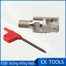 r390-11t3 R0. 8 right angle table shoulder locking head connecting thread round milling