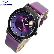 Relogio PREMA Brand Fashion Women Watches Ladies Casual Leather Butterfly Quartz Watch Female Clock montre femme reloj mujer