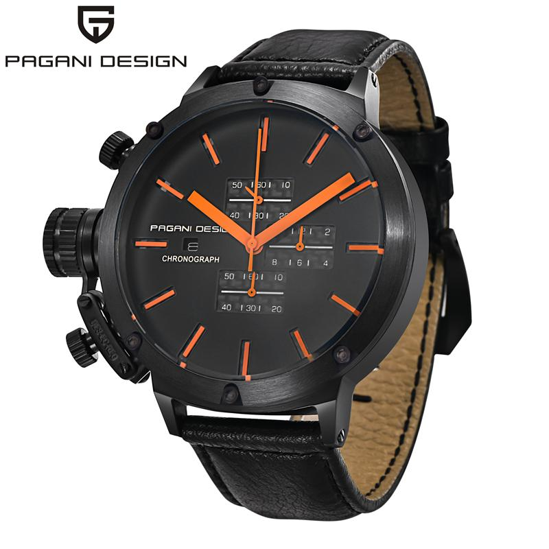 New listing PAGANI Men watch Luxury Brand Watches Quartz Clock Fashion Leather belts Watch Cheap Sports wristwatch relogio male fashion men watch luxury brand quartz clock leather belts wristwatch cheap watches erkek saat montre homme relogio masculino