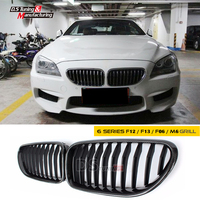 Replacement part carbon fiber single slat front bumper kidney grill grille mesh for bmw 6 series f06 f12 2012 + 640i 650i 640d