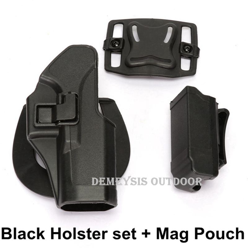 Tactical Combat Wasit Belt Holster Outdoor Hunting Belt GLOCK Holster  For Glock 17 19 22 23 31 32 Holsters Magazine Pouches