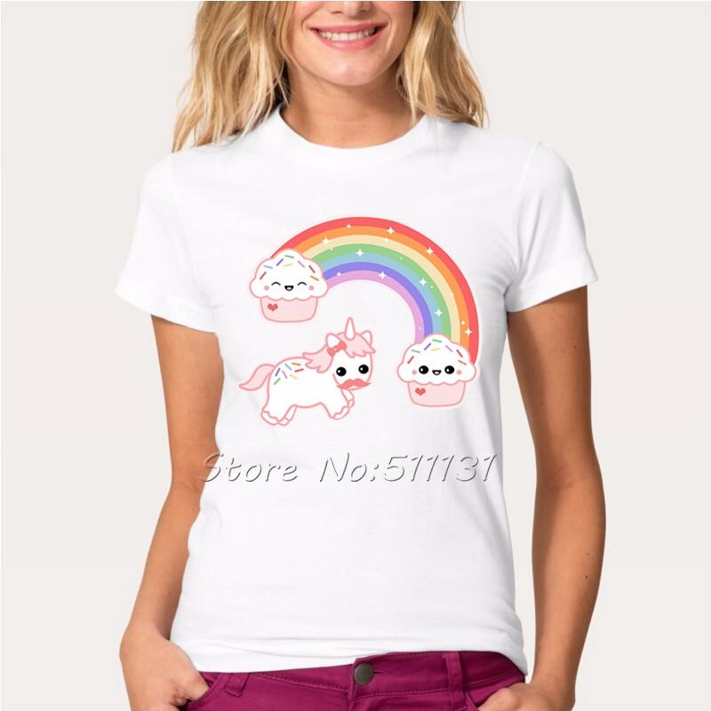 HTB1Po4rOFXXXXclXFXXq6xXFXXXk - Newest Funny Unicorn Rainbows T Shirt Womens Fashion