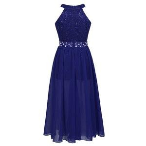 Image 3 - פרחוני תחרה בנות שמלת נסיכת ילדי בנות שמלות למסיבה וחתונה ילדי Vestidos Infantil שרוולים ארוך מקסי שמלה