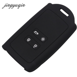Image 4 - jingyuqin Silicone Car Key Cover Set for Renault Koleos Kadjar Megan 2016 2017 Remote Key Holder Protector Case