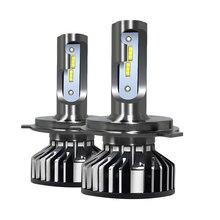 H4 LED H7 H11 CSP Светодиодная лампа для автомобильных фар 55 Вт H8 9005 HB3 9006 HB4 H1 8000лм Автомобильная фара противотуманная фара теплый белый 5500 к 12 В лампа